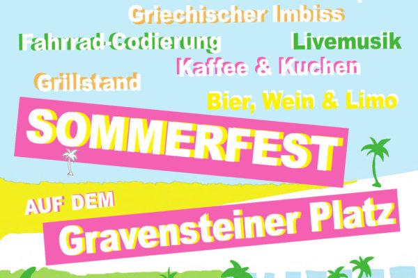 Sommerfest auf dem Gravensteiner Platz 2018